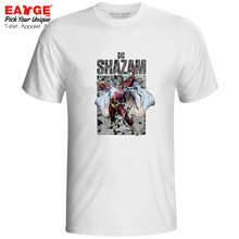 Master of Thunder Shazam T-shirt Superhero Captain Marvelous Hip Hop Creative Skate T Shirt Style Rock Pop Women Men Top