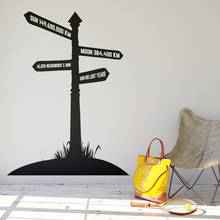 Direction Sign Road Wall Sticker Vinyl Art Removable Poster Mural Beauty Cute Decoration For Bedroom Livingroom W195