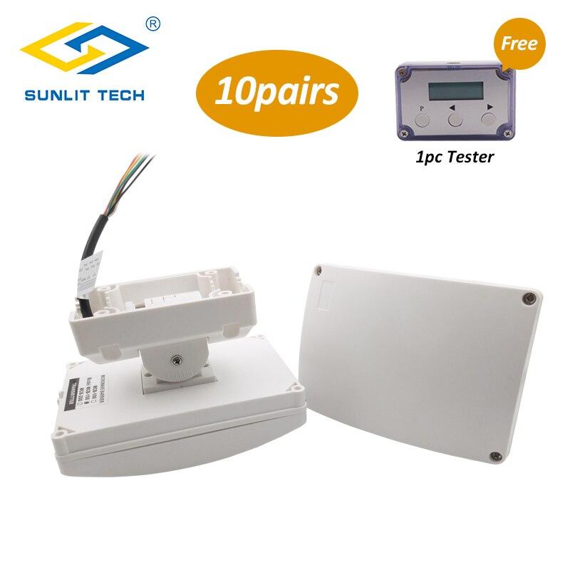 10 paires filaire double micro-ondes infrarouge faisceau détecteur de mouvement détecteur d'intrusion étanche automatique extérieur périmètre alarme capteur