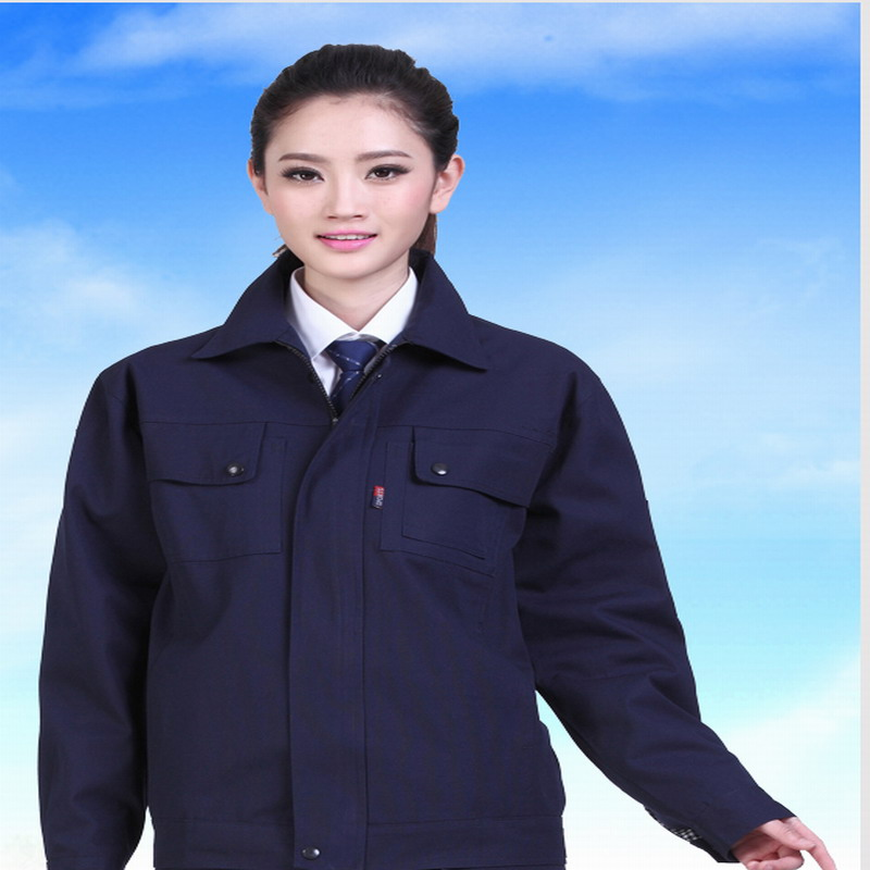Winter double layer work wear thickening lining work clothes set male protective font b clothing b