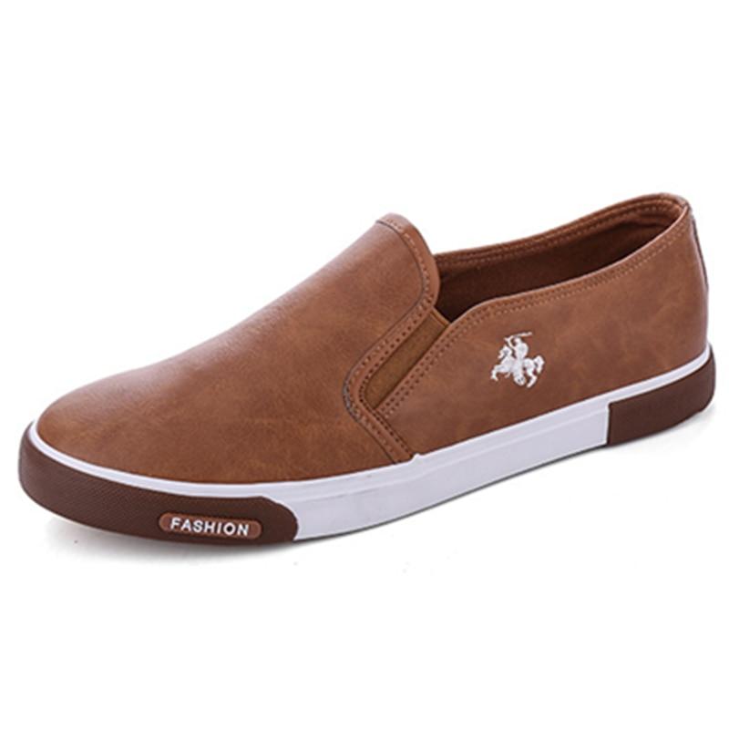 Begeistert Retro Slip Auf Leder Schuhe Männer Turnschuhe Casual Gummi Sohle Mann Schuhe Qualität Wanderschuhe Männlichen Turnschuhe Bequeme Schuhe
