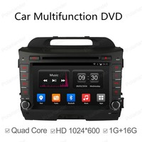 7in 1024 600 Android 4 4 Quad Core 2 Din Car DVD Player For KIA Sportage