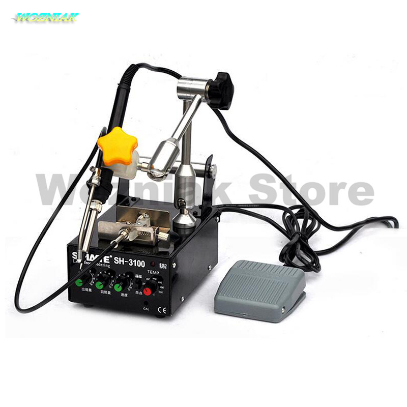 Wozniak Soldering machine Foot automatic tin discharge Automatic soldering machine 936 welding platform 320pc capacitor discharge welding studs ws 320