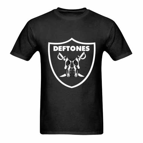 Deftones Black Raider Logo Tshirt New Mens T-Shirt Tee Size S to 3XL