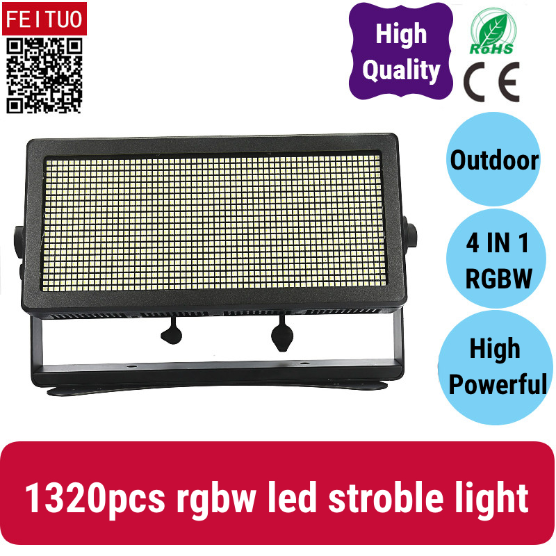 Brilliant 2x Strobe Flash Light Stage Lamp Outdoor 1320x0.8w Rgbw Leds Adjustable For Dmx Stage Disco Dj Bar Party