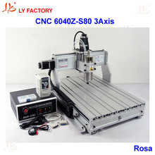 High Power LY 6040Z-S80 3 Axis CNC Lathe Machine Price with 1.5KW Water-Cooling Spindle Motor 220V/110V Available