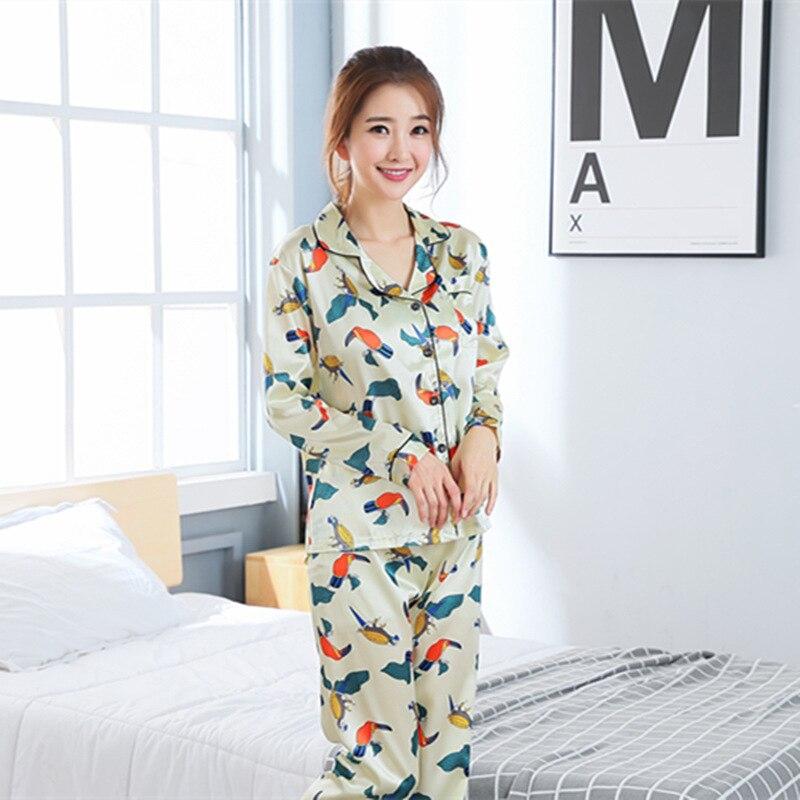 All Seasons Long Sleeve Silk Pajamas Suit Women Lounge Pajama Sets Silk  Satin Pijama Sleepwear Pyjamas the Maximum Body Pijama -in Pajama Sets from  ... 943adb236