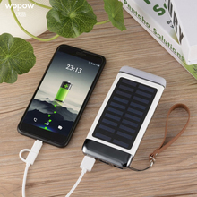 Wopow 10000 mAh Solar power bank Short Circut Protection Long Lasting High Capacity double powerbank Charger External Battery