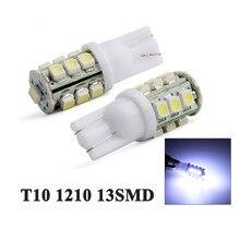 YSY 2 uds T10 1210 13SMD 3825, 161, 168, 184, 192 LED Interior del coche cúpula mapa bombillas de luz para lectura luces para matrícula blanco