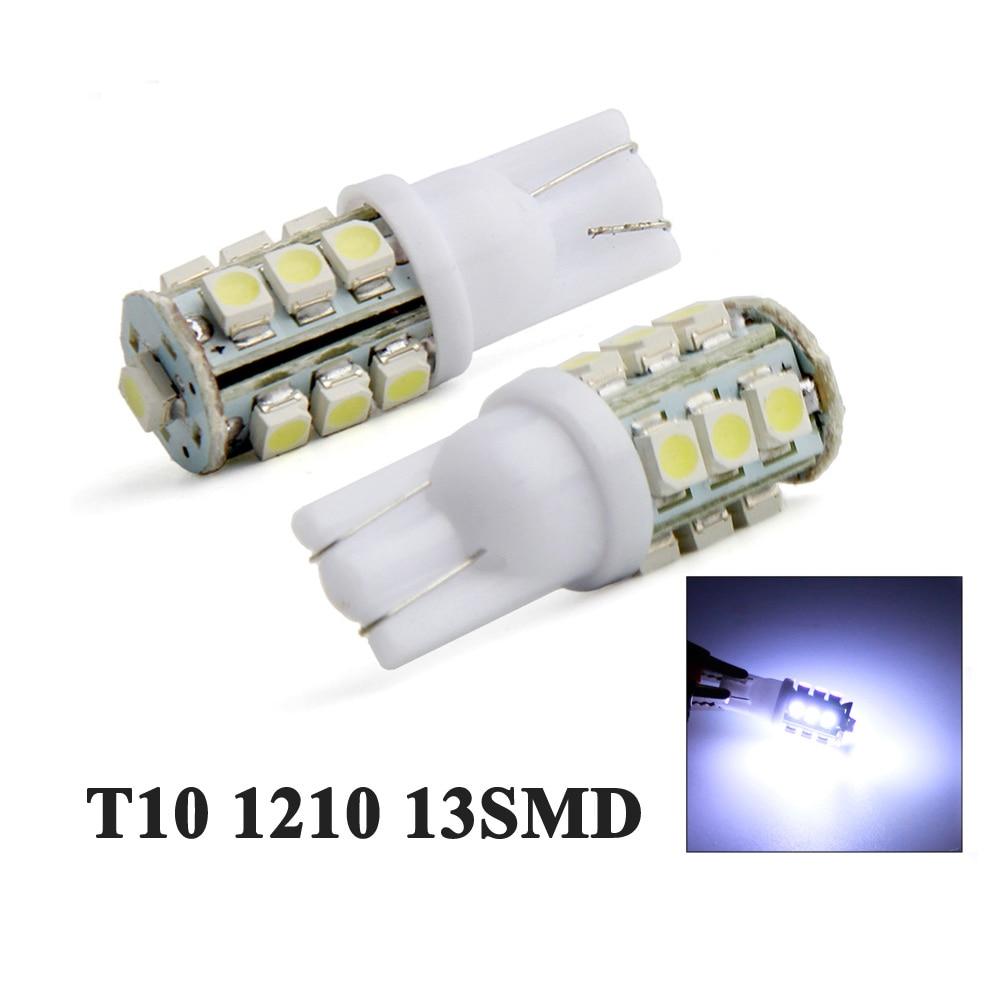 YSY, 2 uds., T10 1210 13SMD 3825 161 168 184 192, bombillas de luz LED para mapas interiores de coche, bombillas de luz para lectura, luces para matrícula, blanco