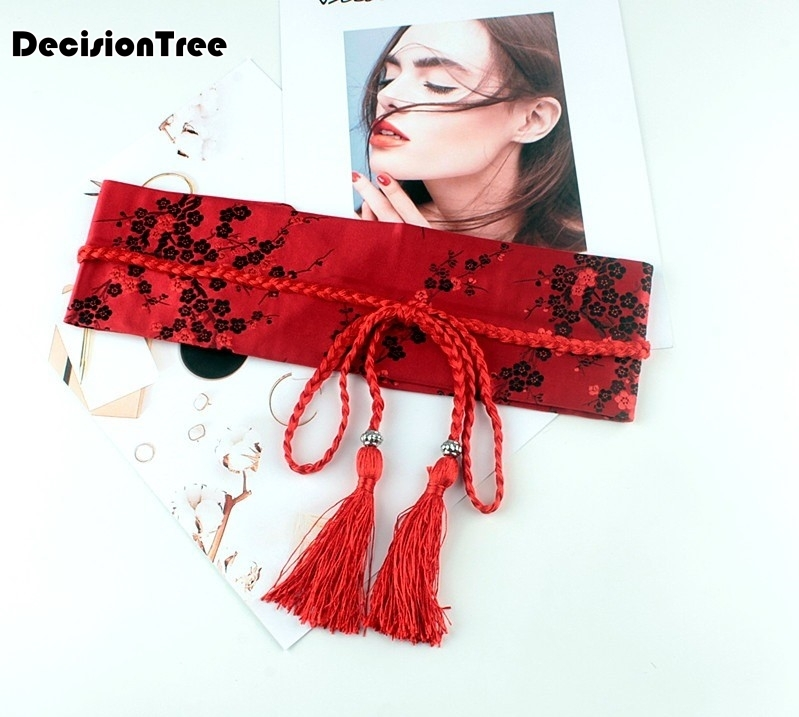 2020 Chinese Women Traditional Costume Female Long Red Belt Chinese Kimono Dance Costume For Woman Stage National For