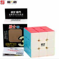 Qiyi mofangge yongshi 3x3x3 cubo shinning stickerless 3 por 3 cubo cubo cubo mágico quebra-cabeça presente