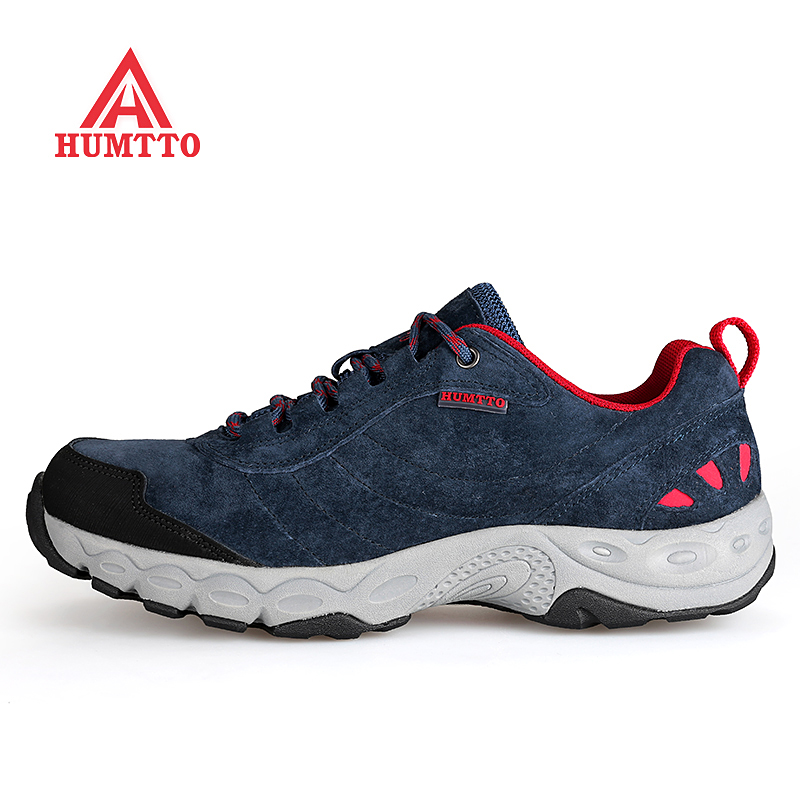 HUMTTO Men's Sports Outdoor Hiking Trekking Shoes Sneakers For Men Leather Sport Climbing Mountain Shoes Man Senderismo humtto outdoor hiking shoes for women breathable men s sneakers summer camping climbing lovers upstream sports man woman brand
