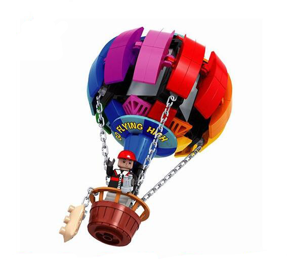 Fire ballon travel around Record educational toys building blocks kits Compatible with Lego city childrens gift 013