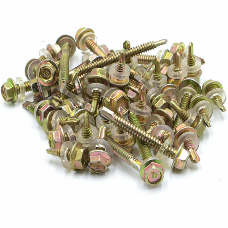 M6.3 galvanized screws with sleeve swallowtail screw self-tapping drill tail bolts 150-265mm length