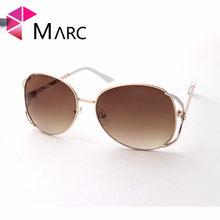 MARC MULHERES Oval óculos de sol Óculos de Gradiente 100% UV400 marrom Liga  de Policarbonato sol gafas a55049e90b