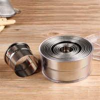 12 pièces/ensemble ronde en acier inoxydable boulettes emballages moules ensemble rond Cookie pâtisserie emballage pâte coupe outil Cutter fabricant outils