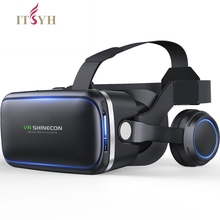 ITSYH VR box glasses 6.0 Virtual Reality 3D VR for 4.7 -6.0 phone glasses headset helmets smartphone Full package TW-413 new baofeng mojing s1 3d glasses virtual reality glasses vr headset 110 fresnel lens bluetooth remote controls for smartphone