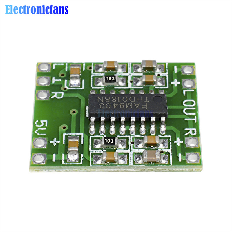 5Pcs <font><b>2x3W</b></font> Dual Channel Mini Digital Power <font><b>Amplifier</b></font> Board PAM8403 For Arduino Class D Stereo Audio <font><b>Amplifier</b></font> Module 5V Power image