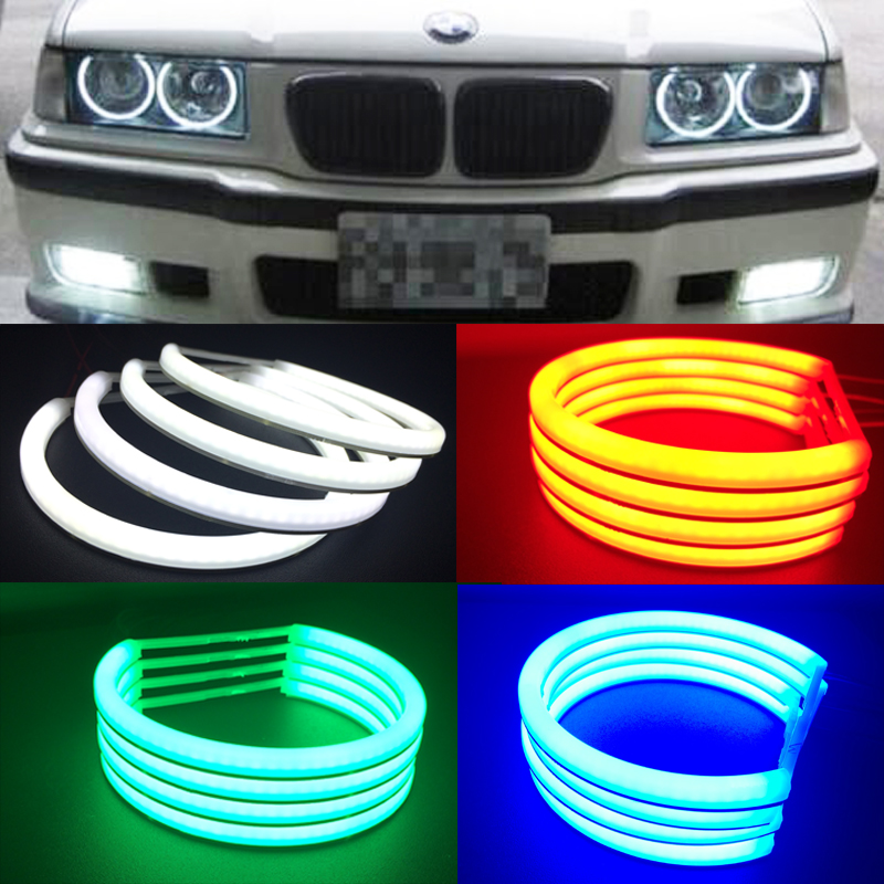 Replacement LED Cotton light angel eyes For E53 X5 2*127.5mm+2*158mm car headlight lamp auto accessory parts