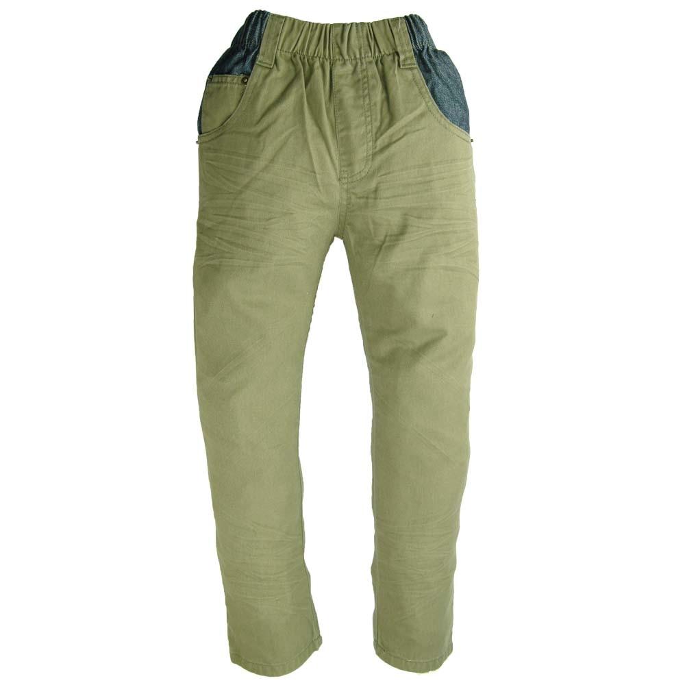 Kualitas tinggi 3-7Y Anak Army Hijau Celana garis bordir Kasual Boy - Pakaian anak anak - Foto 1