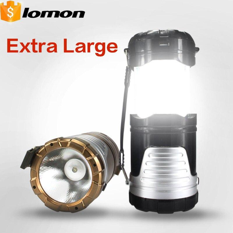 2 in 1 Solar LED Flashlight Rechargeable 6 LED Lamp Camping Lantern Folding Adventuridge Portable Light USB Multifunctional