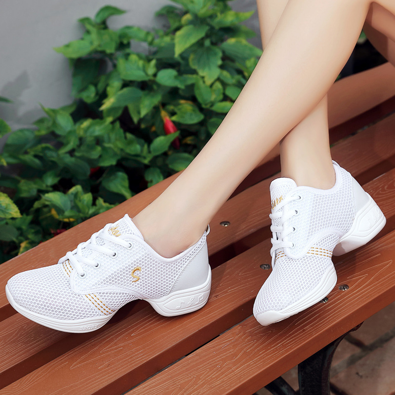 Sneaker Fitness Square Jazz Dance Shoes Man Square Mesh Breathable Modern Shoes Adult Men Dance Shoes Soft Bottom Male