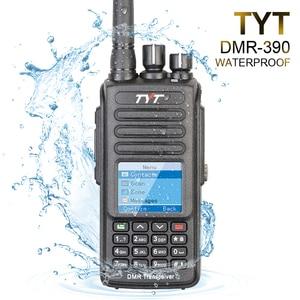 Image 1 - 100% ブランド新オリジナルtyt防水IP 67 uhf 400 480mhz 5ワットdmrポータブルfmトランシーバケーブルとソフトウェア