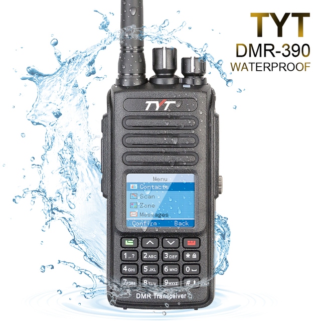 100% ブランド新オリジナルtyt防水IP 67 uhf 400 480mhz 5ワットdmrポータブルfmトランシーバケーブルとソフトウェア