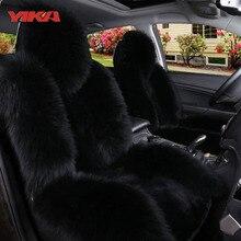 Фотография New Arrive 100% Natural Fur Australian Sheepskin Car Seat Covers Universal Size Fine Wool Cushion Front Single Seat