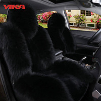 New Arrive 100 Natural Fur Australian Sheepskin Car Seat Covers Universal Size Fine Wool Cushion Front