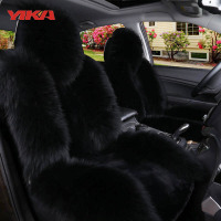 New Arrive 100 Natural Fur Australian Sheepskin Car Seat Covers Universal Size Fine Wool Cushion Front