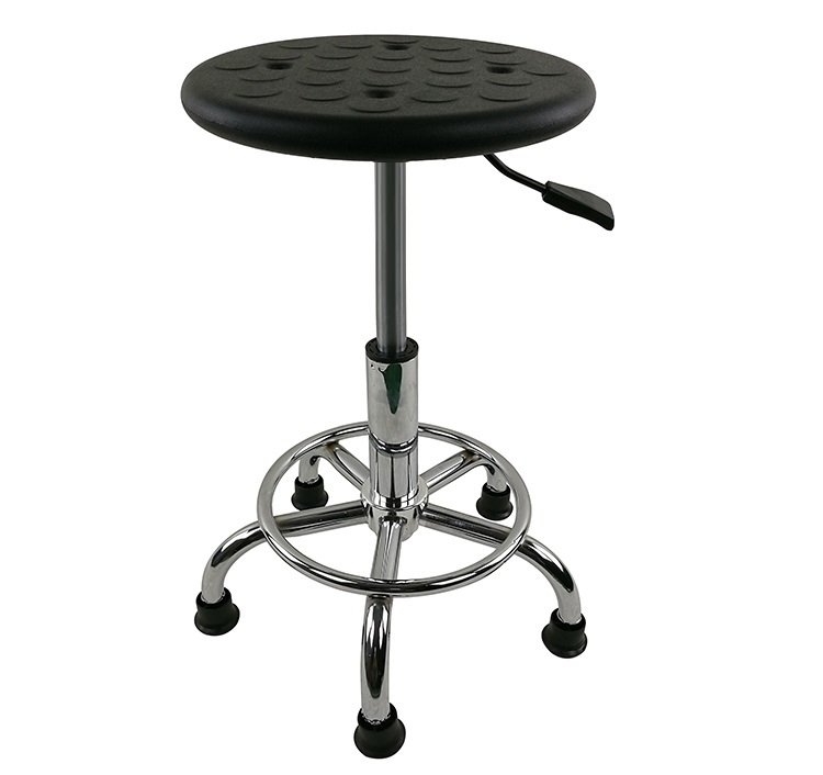 Clean room laboratory workshop stool black Foot nail style SGS gas bar stool retail wholesale free shipping