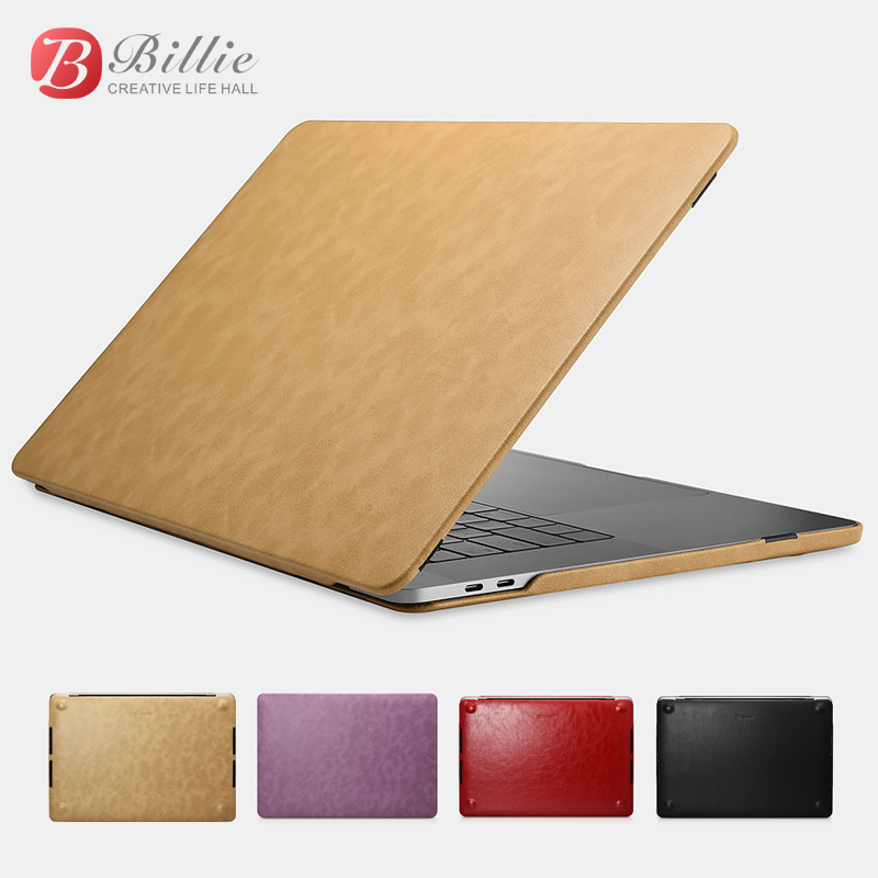"Image 2 - Slim Premium Pu Leather Laptop Case Cover For Macbook Pro 15 inch New 2017 Protective Shell Cover for Apple Macbook pro 15"" 2017-in Laptop Bags & Cases from Computer & Office"