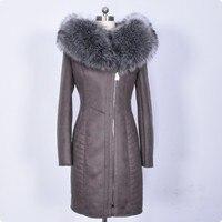 2018 Новое поступление Искусственная кожа Для женщин куртка плюс Размеры женский длинный рукав пальто с капюшоном жакет с молнией Femininas казач