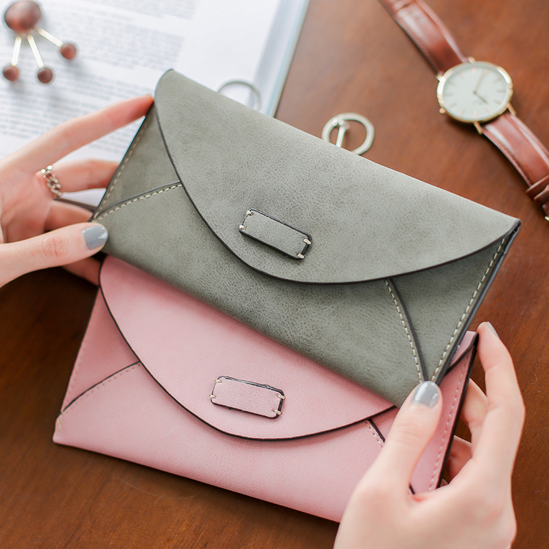 Top Quality Latest Lovely Leather Long Women Wallet Fashion Girls Change Clasp Purse Money Coin Card Holders Wallets Carteras  2017 hot sale lovely leather long women wallet fashion girls change clasp purse money coin card holders wallets carteras
