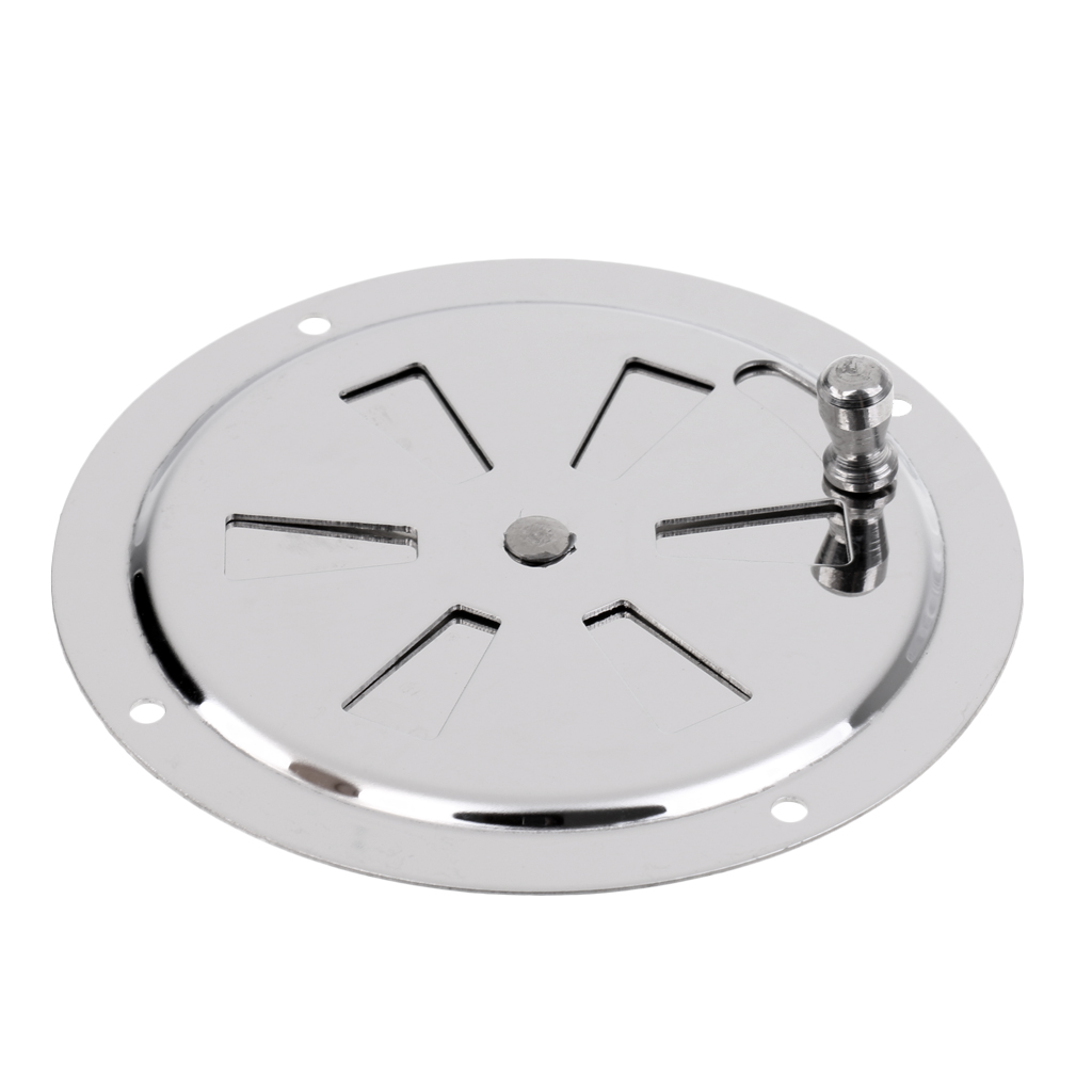 Image 2 - 2019 New Boat Stainless Steel Butterfly Ventilator Cover Round Louvered Vent 4 Inch Outer Diam With Side Knob Boat Hardware-in Marine Hardware from Automobiles & Motorcycles