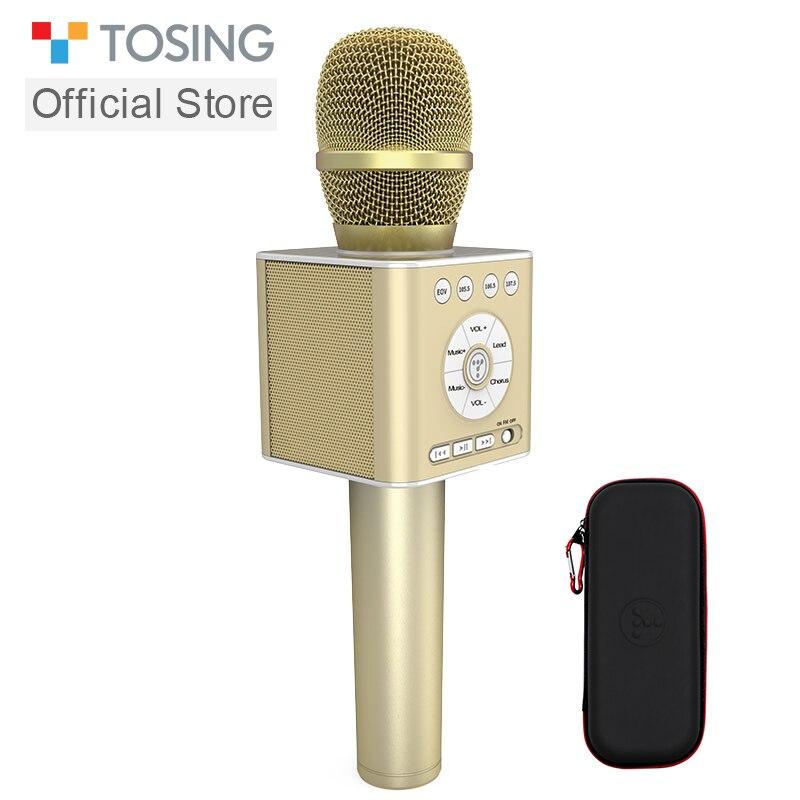 TOSING Q12 2019 New Portable Karaoke Microphone Wireless Bluetooth Speaker Handheld Music Player KTV Travel SupportUSB
