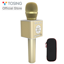 TOSING Q12 2020 New Portable Karaoke Microphone Wireless Bluetooth Speaker Handheld Music Player KTV Travel SupportUSB card Play