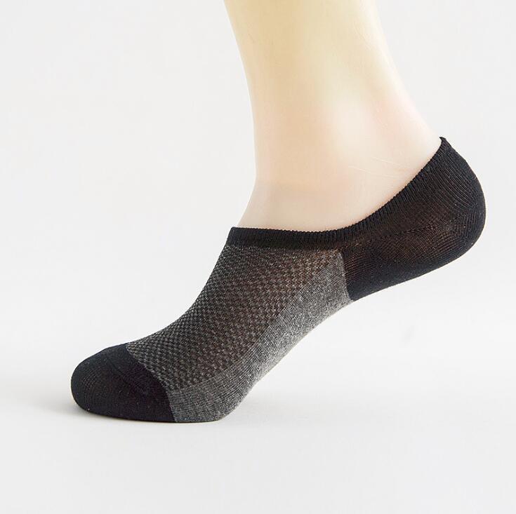 Fashion Cotton Solid Letters Short Ankle Socks Low Cut Socks Casual Pattern Men Socks Comfortable