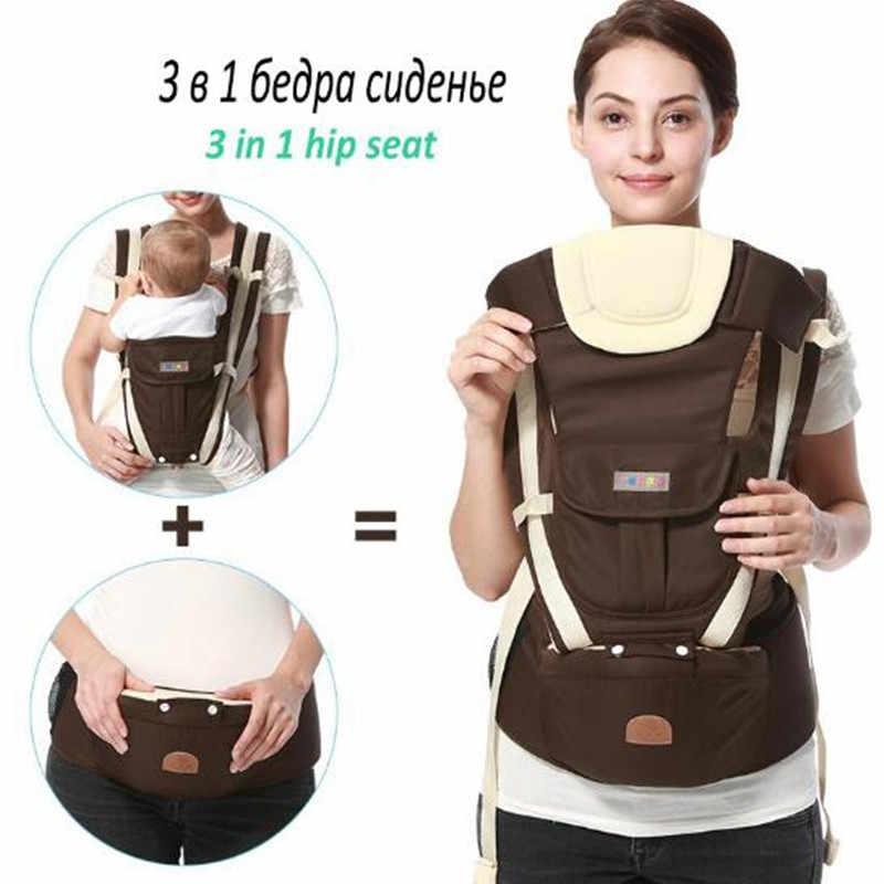 8 em 1 Ergonômico Baby Carrier sling 2017 canguru hipseat portadores mochilas removível mochila estilingue do bebê Respirável