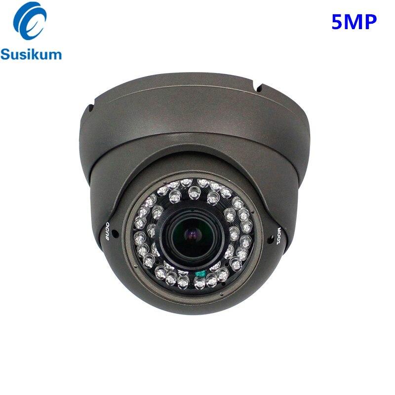 Zoom manuel 5MP 2.8-12mm lentille caméra de sécurité Surveillance SONY326 CMOS capteur anti-vandalisme dôme AHD caméra Vision nocturne