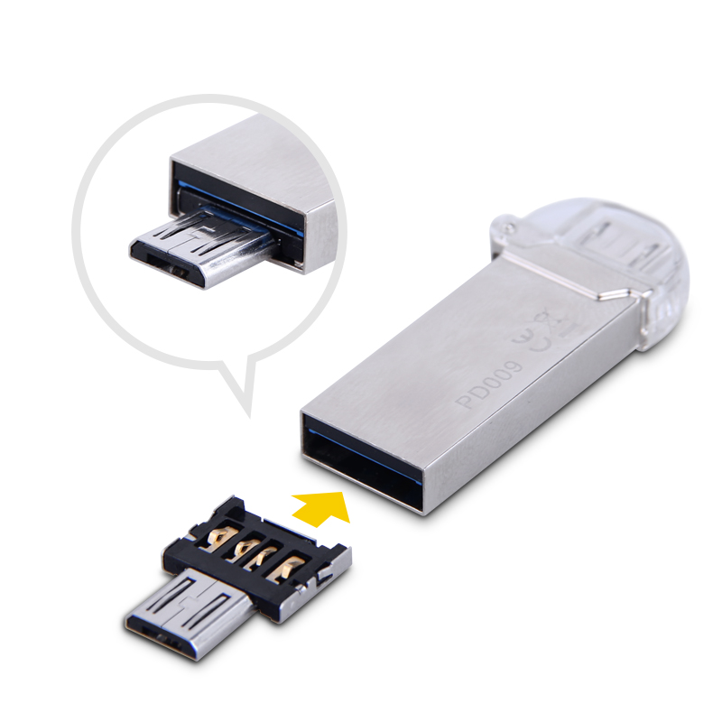 Image 5 - Free shipping New DM OTG adapter 100pcs/lot OTG function Turn normal USB into Phone USB Flash Drive Mobile Phone Adapters-in Memory Card Adapters from Computer & Office