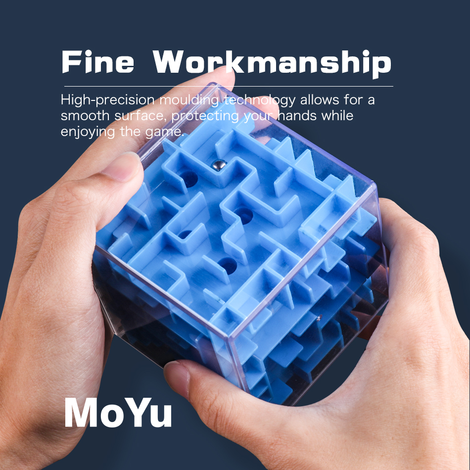 3D Cube Puzzle Maze Steel Ball Game Toys Case Fun Brain Game Intelligent Improve Balance Ability Educational Toys For Children