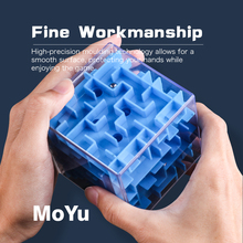 3D Cube Puzzle Maze Steel Ball Game Toys Case Fun Brain Intelligent Improve Balance Ability Educational For Children
