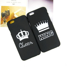 Fashion Brand King Queen Hard Plastic Ultra Thin Back Covers for Apple iPhone 6 6s 5