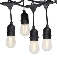 Barato Resistente al agua 15 M 24 bombillas LED luces de cadena de E26 E27 S14