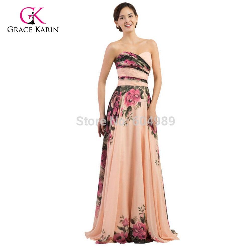Damen Abendkleider 2018 Gnade Karin Elegante Blume Chiffon-Plus Size ...