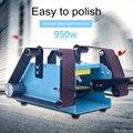 950 W 220 V multifunctionele Elektrische Bandschuurmachine Desktop Dubbele kop Riem Schuren Slijpmachine Polijsten Tool power