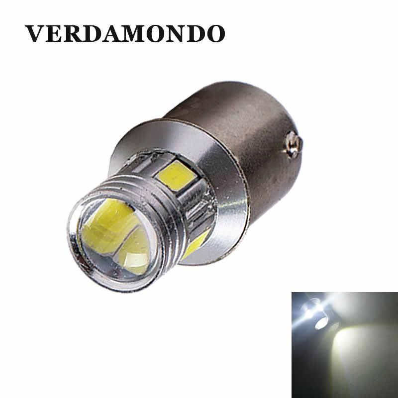BA15S 1156 P21W CAR LED Bulbs 6 5730 SMD Tail Backup Reverse Light Brake Dome Turn Signal Lamp Top Lens 360 Degrees White DC 12V